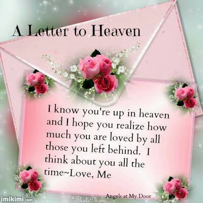 happy birthday to grandma in heaven poem ; a-letter-to-heaven