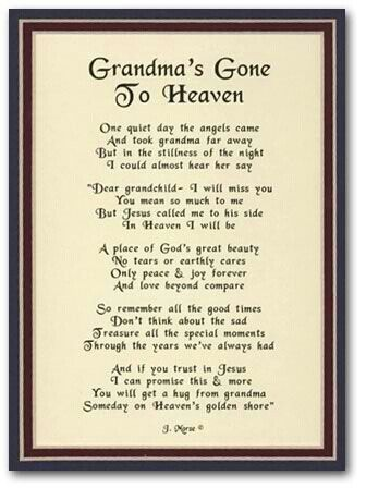 happy birthday to grandma in heaven poem ; dc07704a9a4d90db2d64045d289ddfda