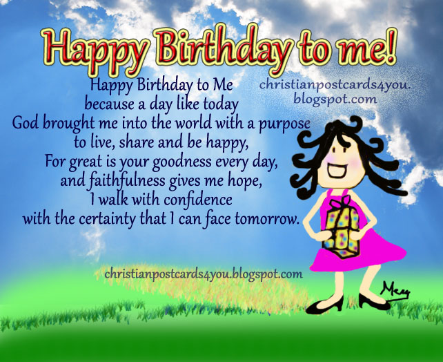 happy birthday to me message quotes ; happy+birthday+to+me+christian+card+postcard+my+birthday