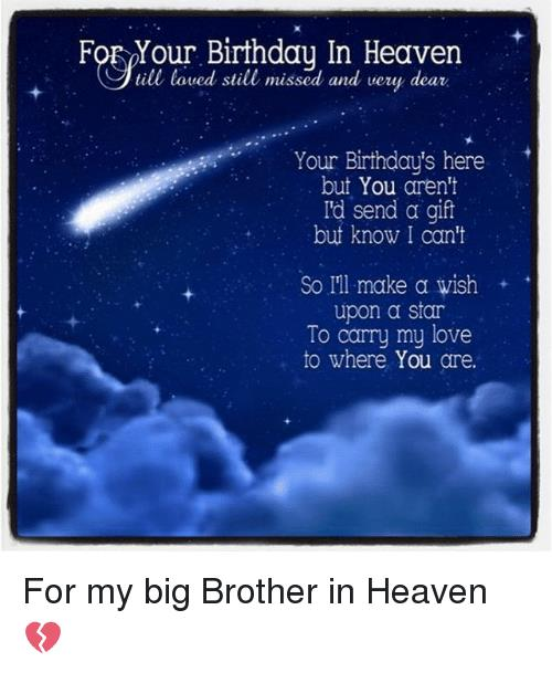 happy birthday to my brother in heaven images ; foe-your-birthday-in-heaven-till-loved-still-missed-and-22931657