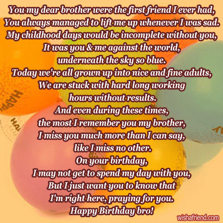 happy birthday to the best brother in the world poem ; 1987-brother-birthday-poems