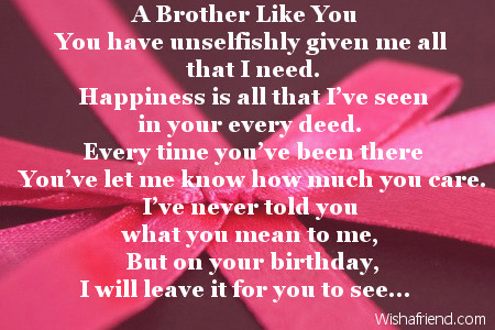 happy birthday to the best brother in the world poem ; 2471-brother-birthday-poems