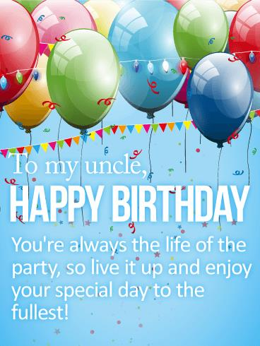 happy birthday to the best uncle ; birthday-card-for-uncle-enjoy-your-special-day-happy-birthday-card-for-uncle-birthday-printable