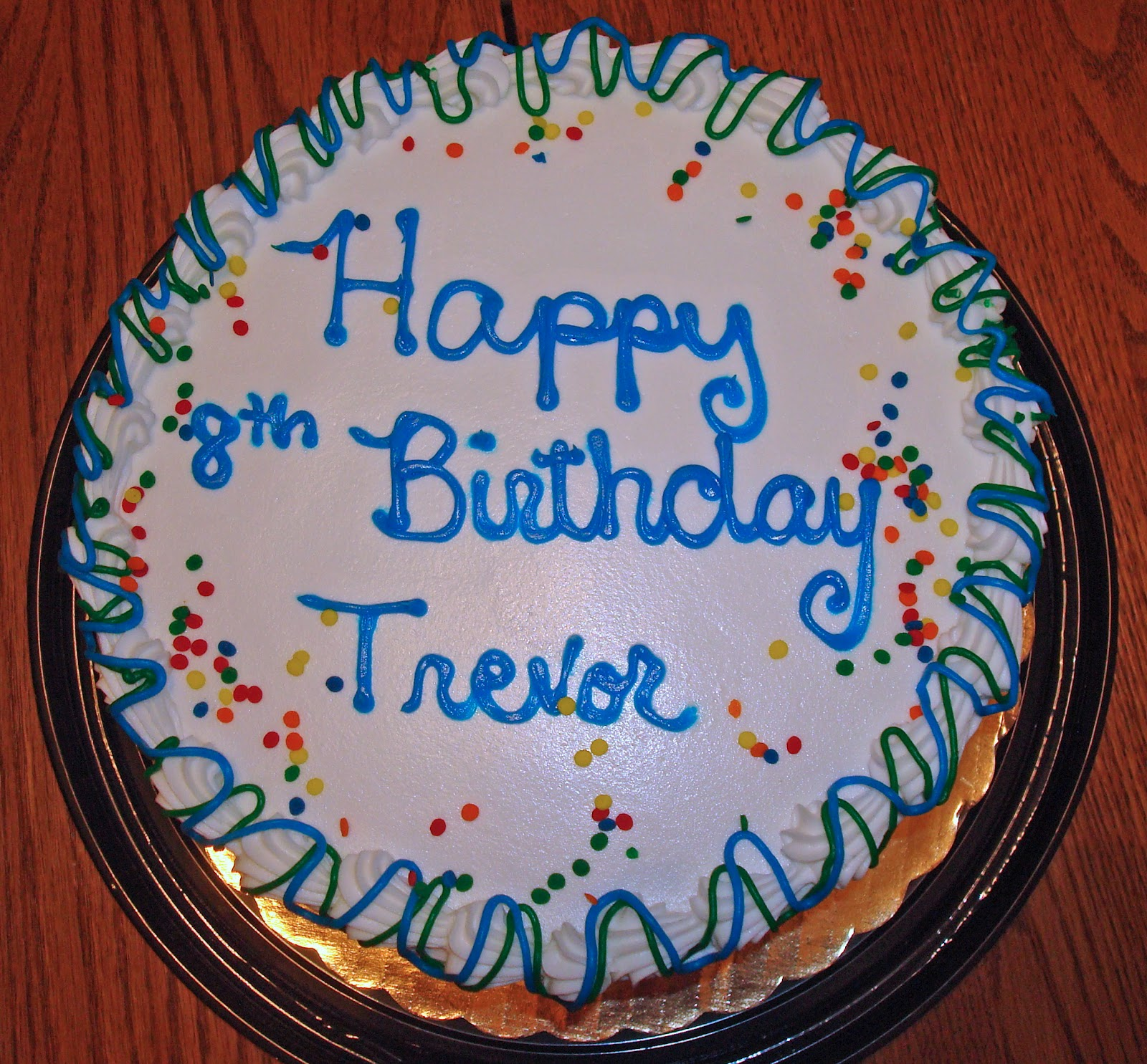happy birthday trevor ; Trevor%252527s-cake