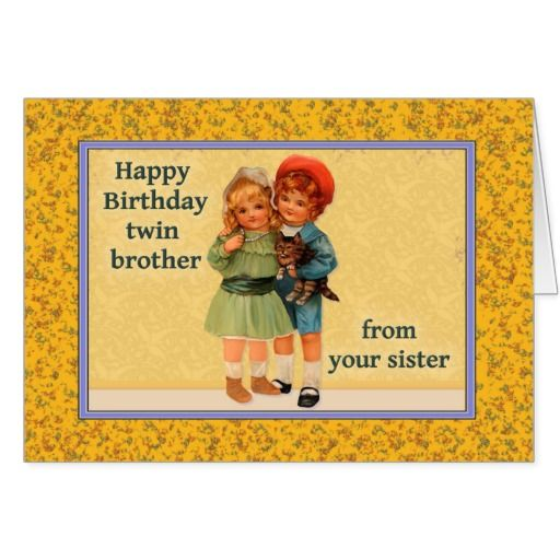 happy birthday twin sister card ; 9e26ea64db64ae561001115566a737d1
