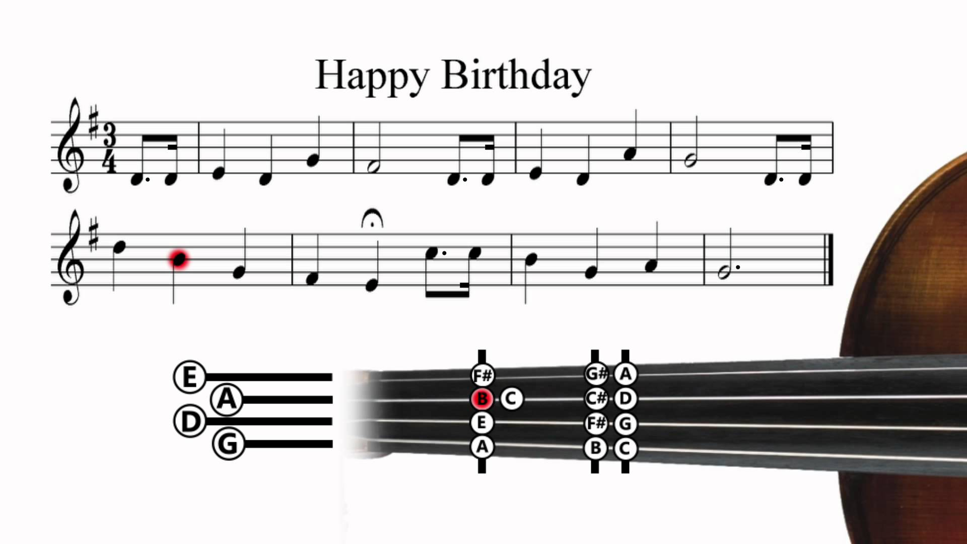 happy birthday violin notes with letters ; maxresdefault