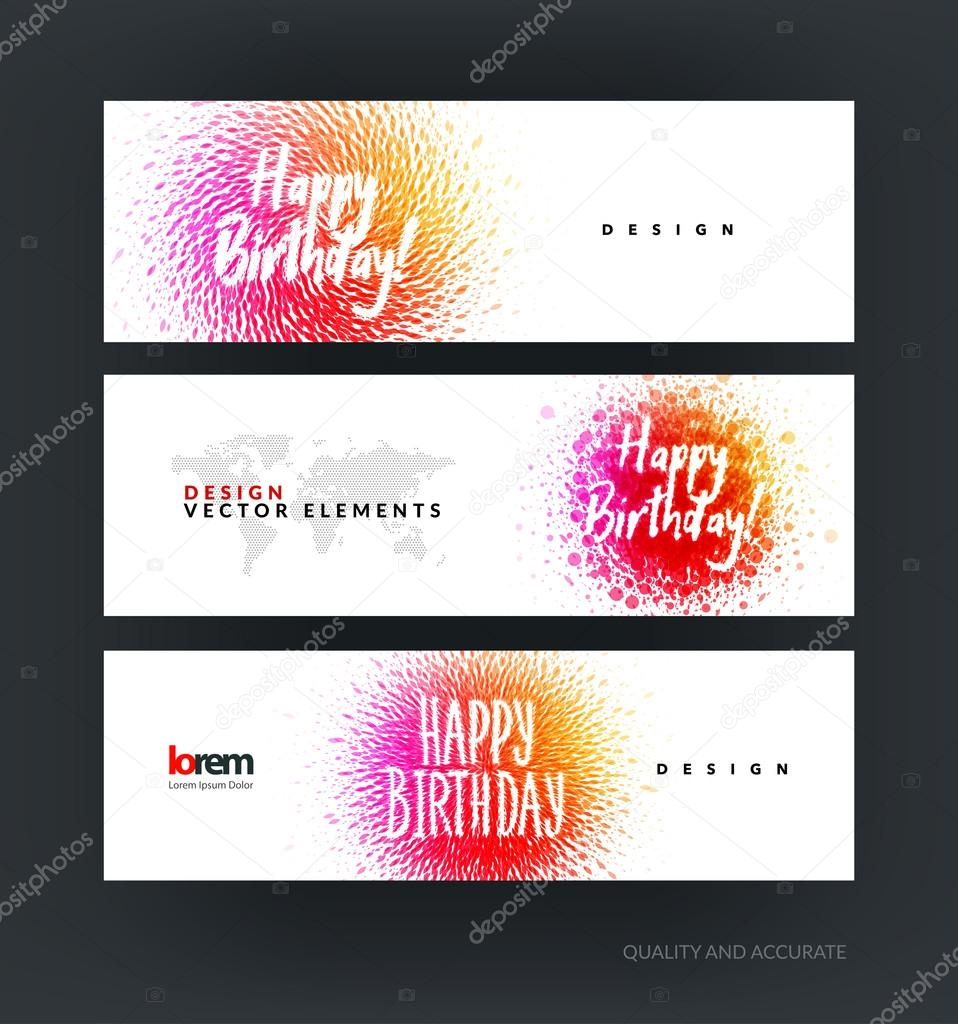 happy birthday website design ; depositphotos_116891528-stock-illustration-set-of-modern-horizontal-website