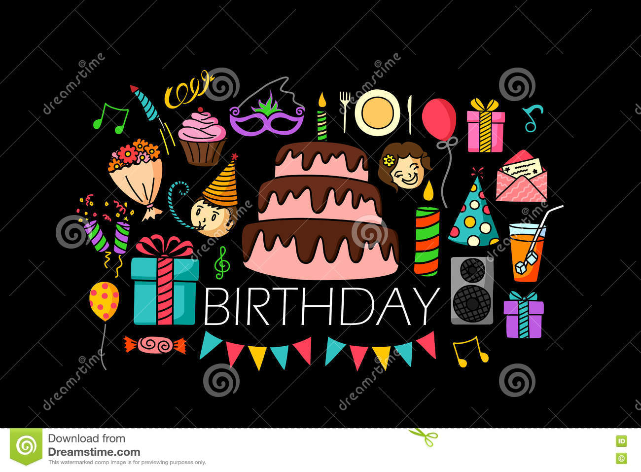 happy birthday website design ; happy-birthday-concept-web-design-template-vector-illustration-flat-line-art-71270644