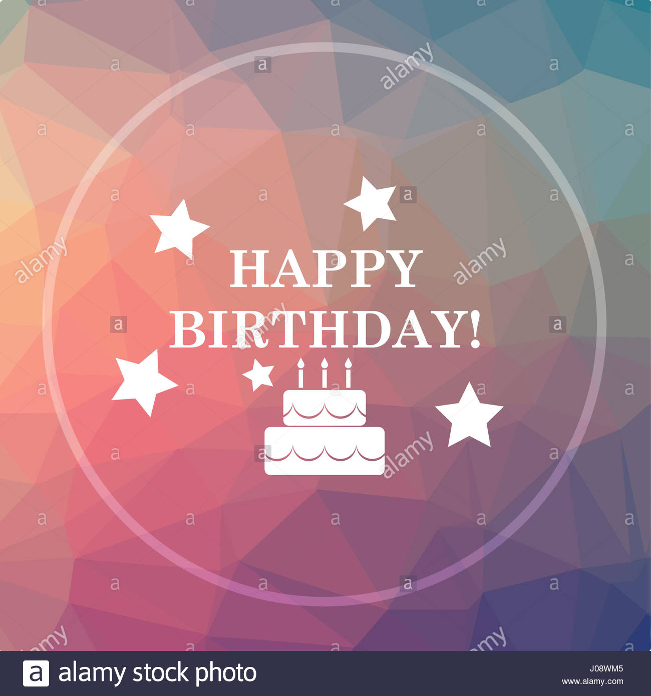 happy birthday website design ; happy-birthday-icon-happy-birthday-website-button-on-low-poly-background-J08WM5