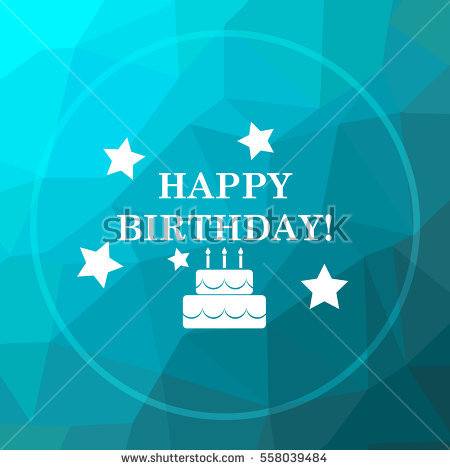 happy birthday website design ; stock-photo-happy-birthday-icon-happy-birthday-website-button-on-blue-low-poly-background-558039484
