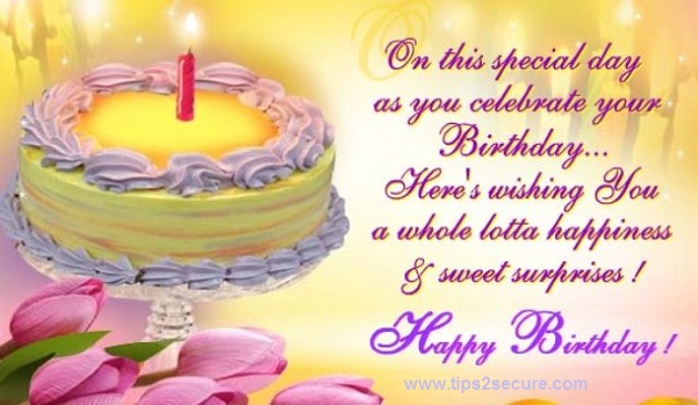happy birthday wish msg in english ; birthday%252Bsms
