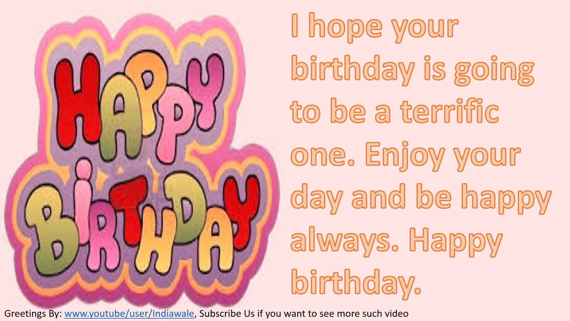 happy birthday wish msg in english ; maxresdefault-1