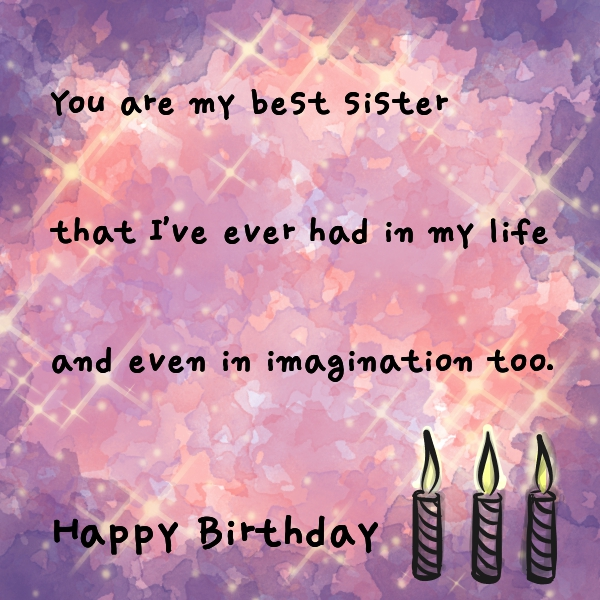 happy birthday wish you the best ; birthday-wishes-for-sister-64