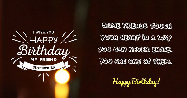 happy birthday wish you the best ; cute-birthday-wishes-for-friend