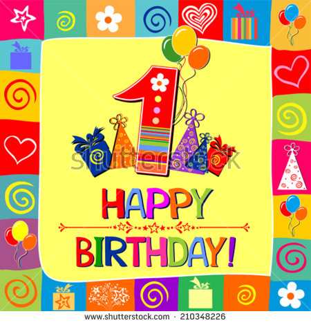 happy first birthday images ; stock-vector-happy-first-birthday-celebration-yellow-background-with-number-one-balloon-gift-boxes-and-place-210348226