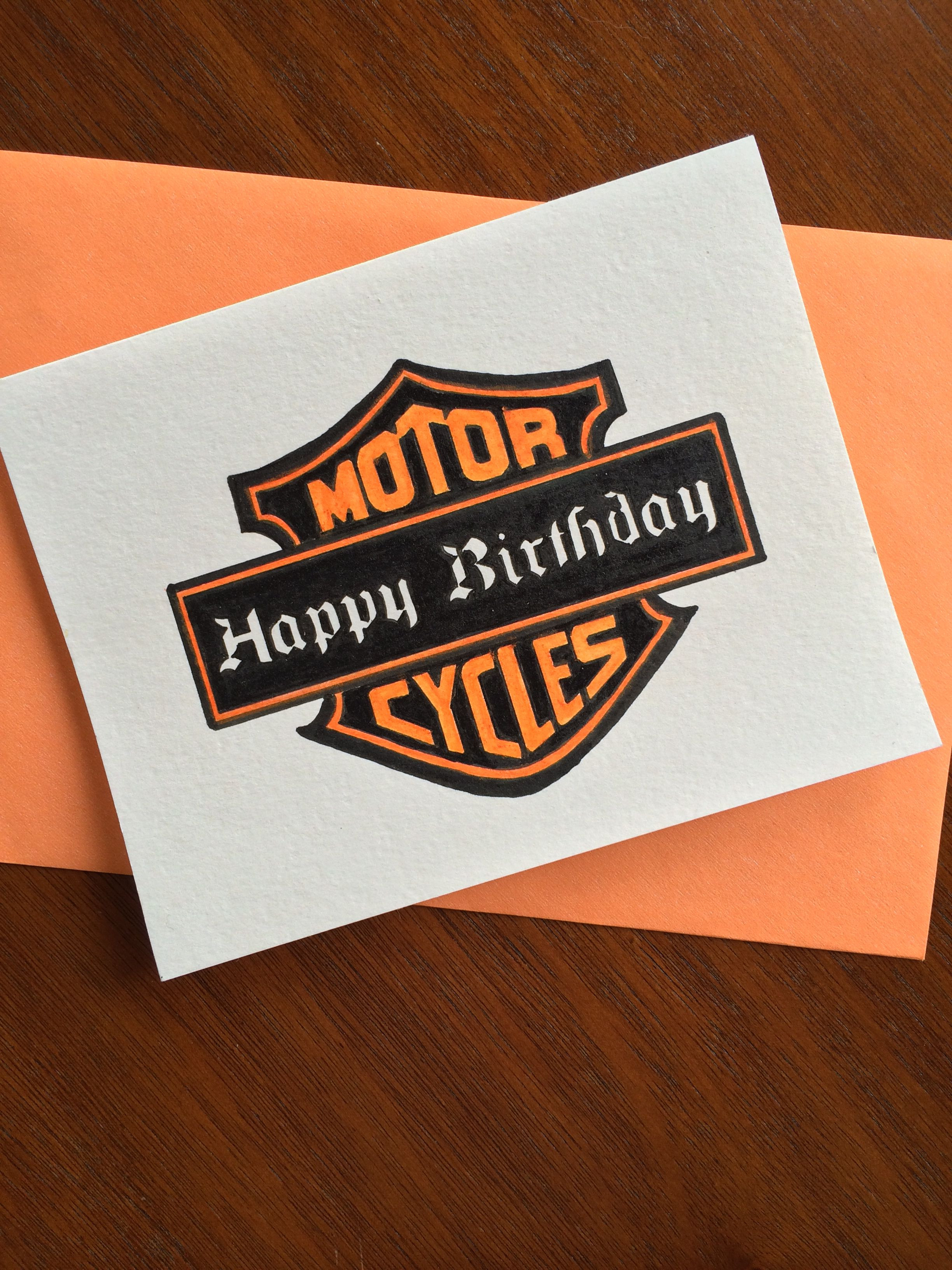 harley davidson birthday cards printable ; birthday-design-inspirational-handmade-greeting-card-by-fedele-design-harley-davidson-birthday-of-birthday-design