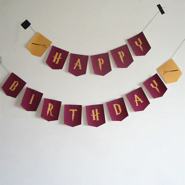 harry potter happy birthday banner ; harry-potter-font-Happy-Birthday-letters-Garland-Flags-Bunting-Banners-for-Kids-Birthday-Party-Decor-Supplies