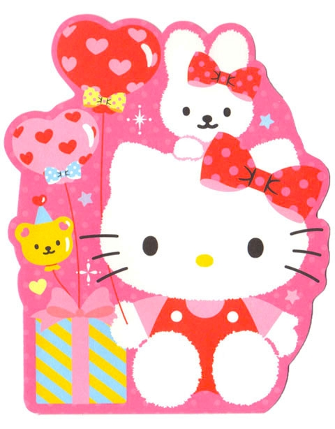 hello kitty birthday card ideas ; DEHK13-21409515983