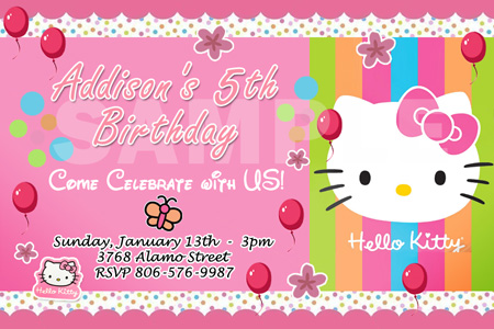 hello kitty birthday invitation maker ; Personalized-Hello-Kitty-Themed-Birthday-Invitation