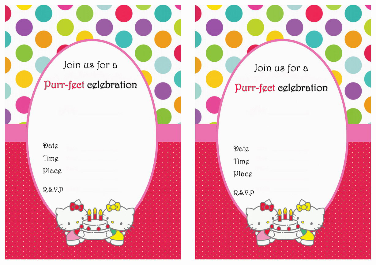 hello kitty birthday invitation maker ; creative-hello-kitty-face-in-inexpensive-birthday