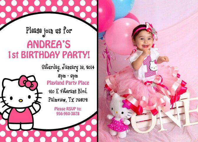 hello kitty birthday invitation maker ; hello-kitty-first