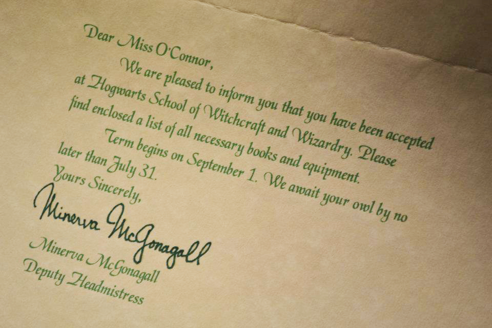 hogwarts letter birthday card ; 388323_10150446158070535_747470534_10607633_1553014321_n