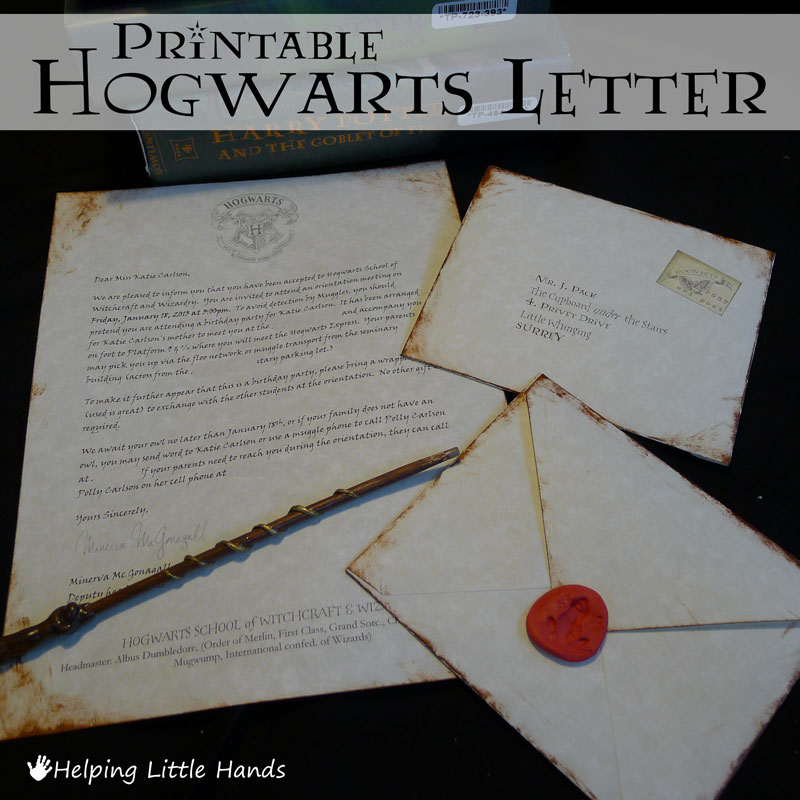 hogwarts letter birthday card ; 595-Harry-Potter-Hogwarts-A