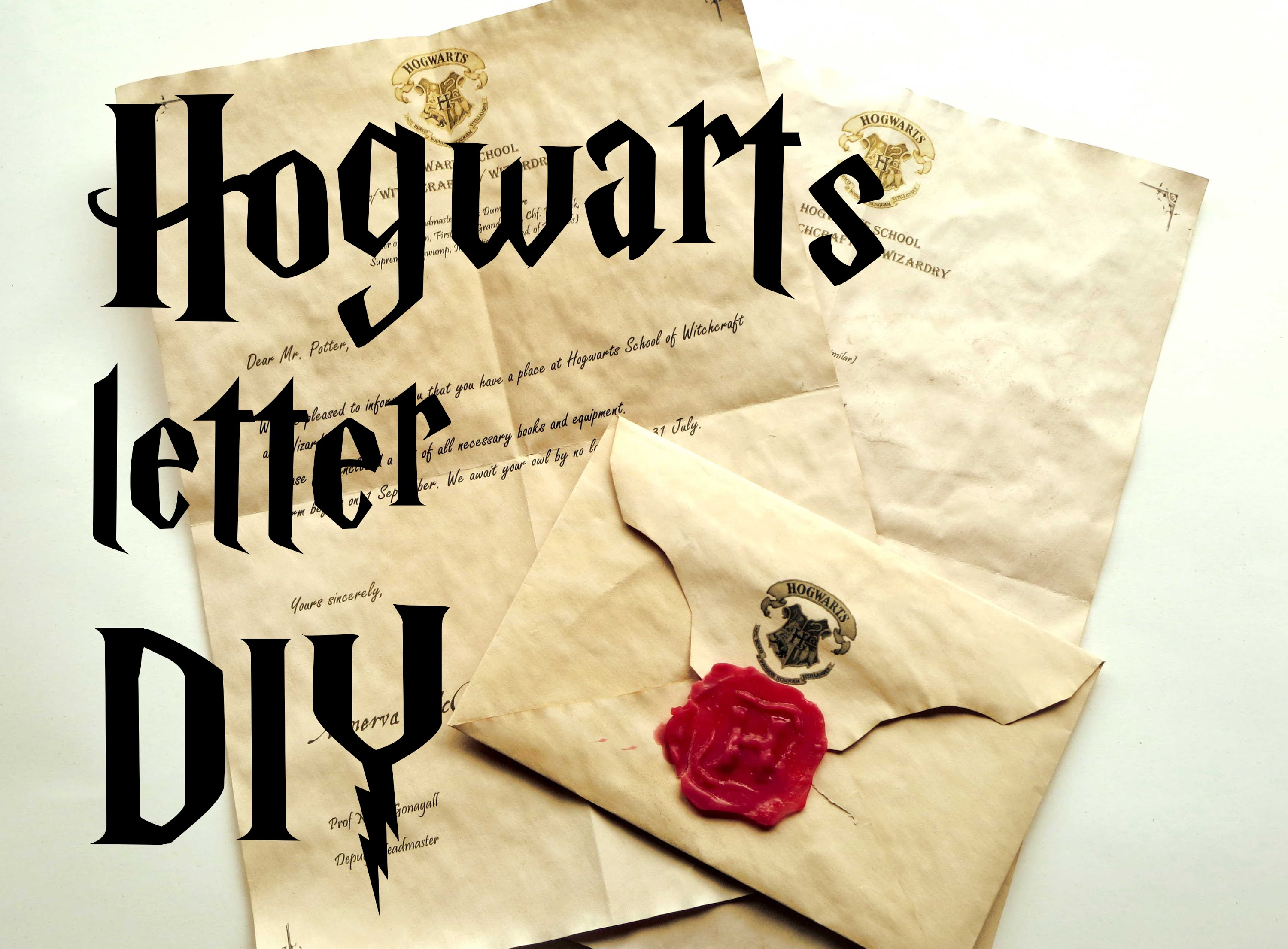 hogwarts letter birthday card ; maxresdefault