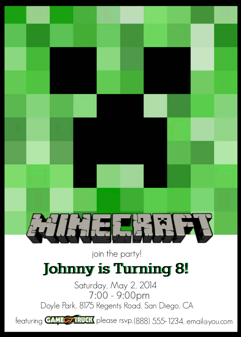 homemade minecraft birthday card ; minecraft-birthday-party-invitations-terrific-Birthday-invitations-as-your-best-friendship-appreciation-to-your-best-friends-20