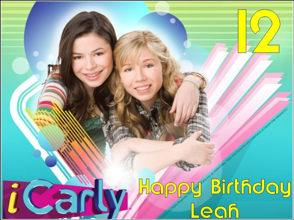 icarly birthday card ; a4-personalised-icarly-edible-icing-or-wafer-cake-top-topper-i-carly-material-wafer-3690-p