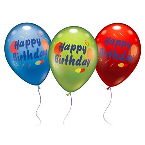 image balloons happy birthday ; 416LCb5jeFL