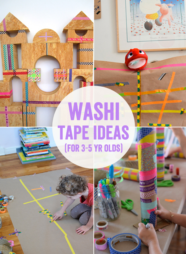 indoor activities for 3 year old birthday party ; washitape3to5