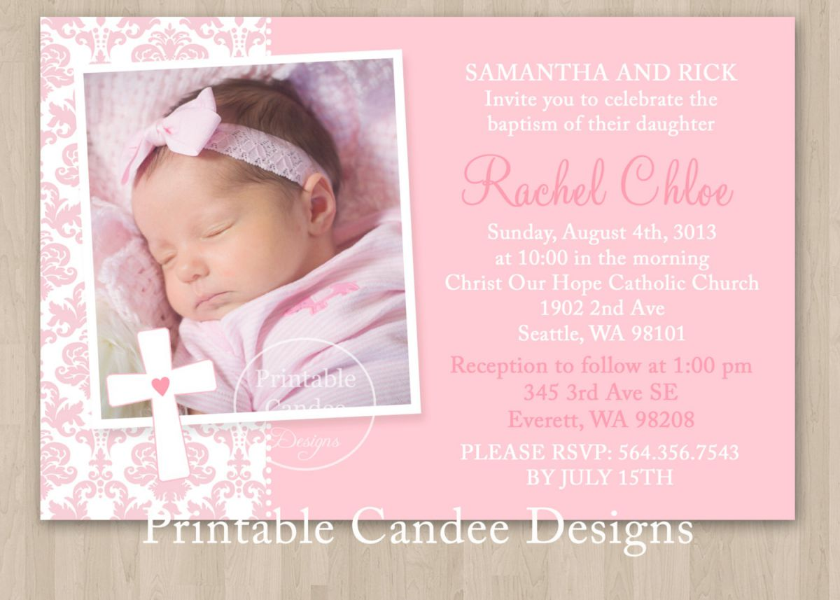 invitation card maker for christening and birthday ; baptism-invitation-template-editable