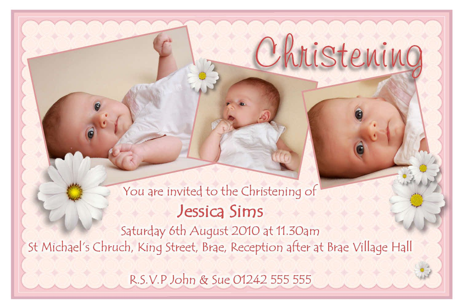 invitation card maker for christening and birthday ; christening-invitation-cards-wordings