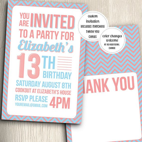 invitation cards for birthday party for teenagers ; 2549192ed6dd2fc33ebbc31f175a46ff