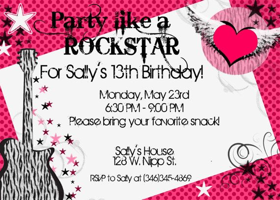 invitation cards for birthday party for teenagers ; 912674d35097a358bd1119ca712ea4f2--teen-girl-birthday-th-birthday
