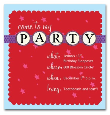 invitation cards for birthday party for teenagers ; img_page-01