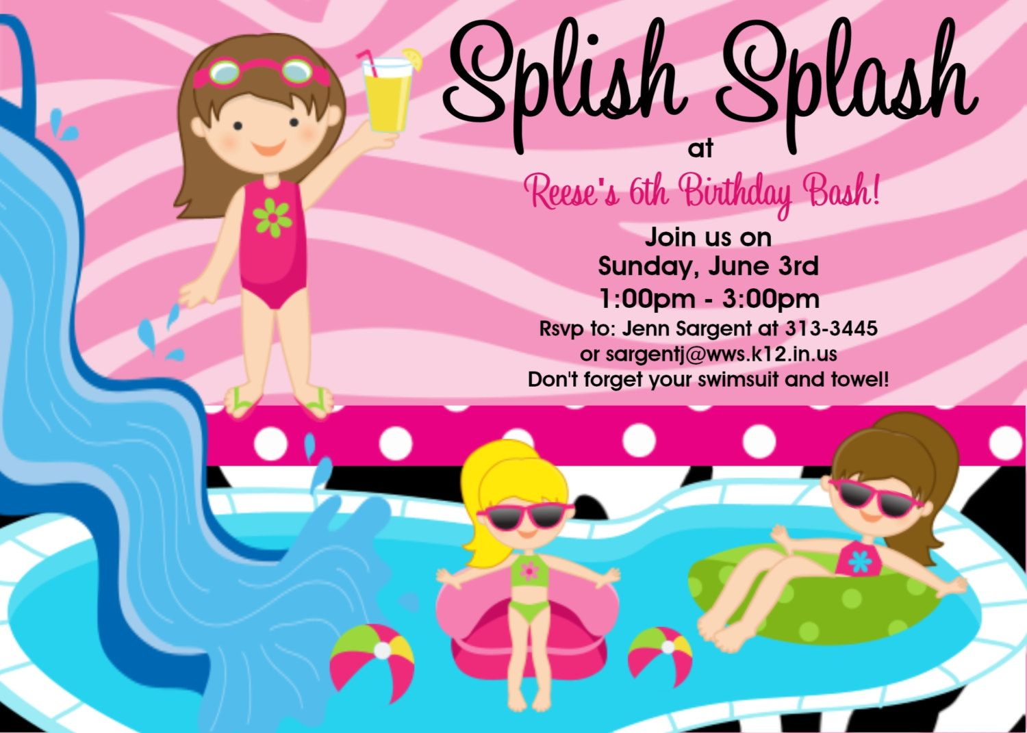 invitation for birthday pool party ; 1405034a0f032de54012be7f1eebdc97