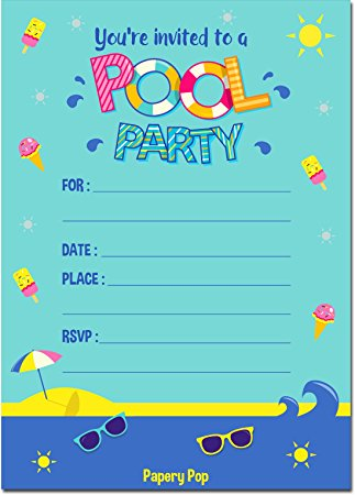 invitation for birthday pool party ; Birthday-pool-party-invitations-and-get-inspiration-to-create-the-party-invitation-design-of-your-dreams-1