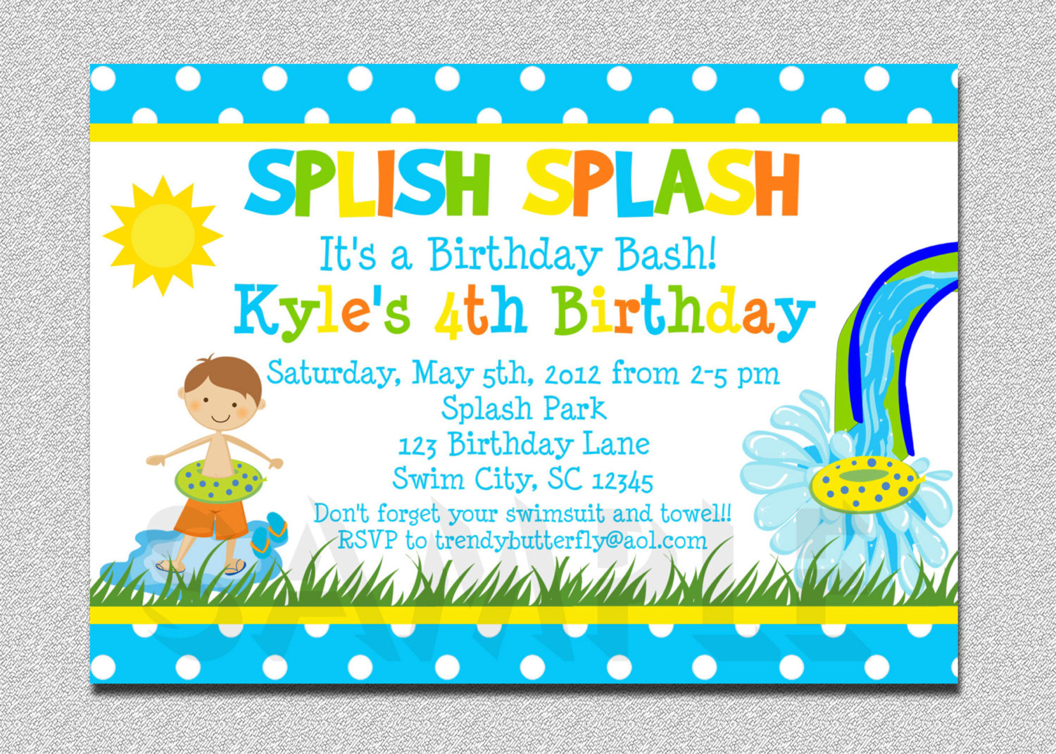 invitation for birthday pool party ; il_fullxfull