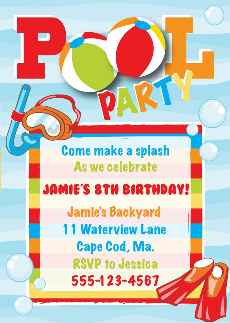 invitation for birthday pool party ; pool-party-birthday-invitations-pool-party-invitation-cool-off-pool-party-birthday-invites