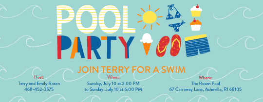 invitation for birthday pool party ; thumb_slider