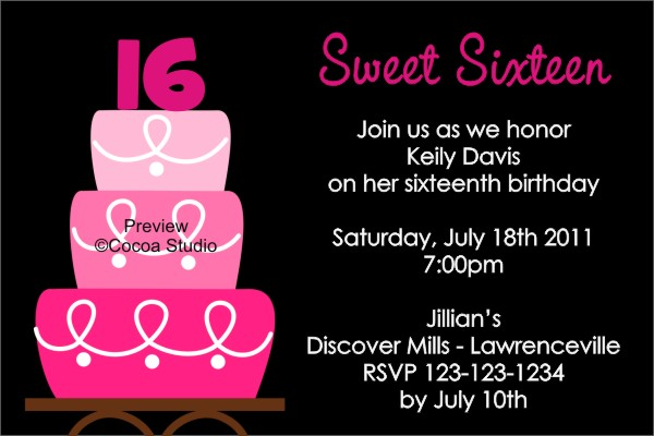 invitation ideas for 16th birthday party ; 16th-birthday-invitation-templates-sweet-16-birthday-party-invitations-templates