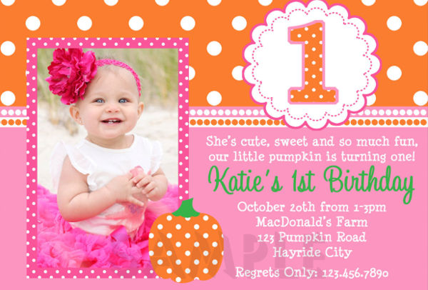 invitation letter for 1st birthday party ; Sample-1st-Birthday-Party-Invitation