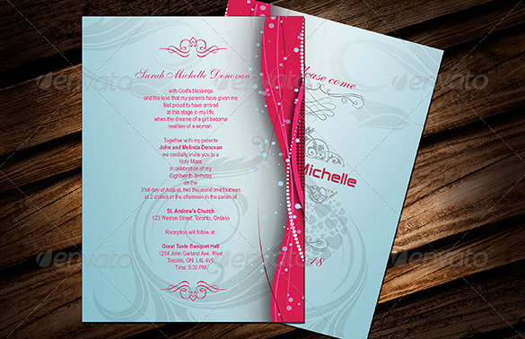 invitation letter for birthday debut ; Birthday-Debut-Invitation