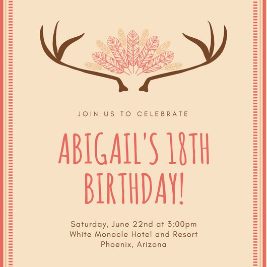 invitation letter for birthday debut ; debut-invitation-sample-18th-birthday-invitation-templates-canva