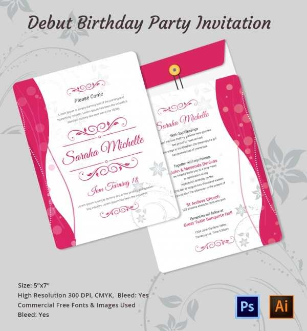 invitation letter for birthday debut ; debut-invitations-sample-personalised-18th-birthday-invitations-sample-debut-invitation