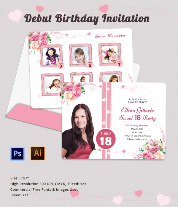 invitation letter for birthday debut ; fantastic-sample-invitation-letter-for-debut-7-cool-invitation