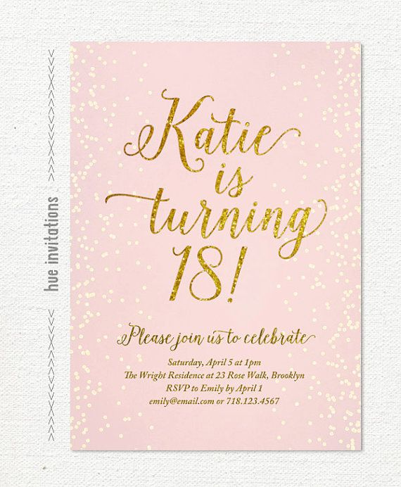 invitation letter for birthday debut ; sample-debut-invitation-pink-gold-glitter-18th-birthday-invitation-for-girl-modern-teen