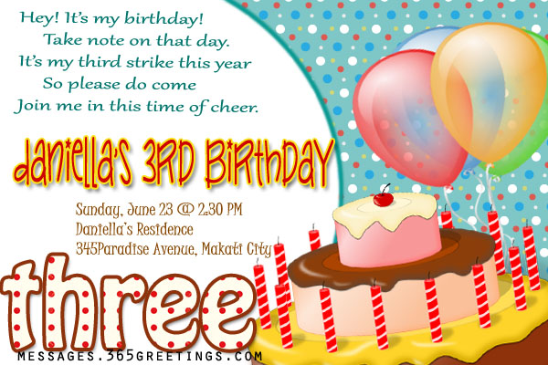 invitation matter for birthday party ; 3rd-birthday-party-invitation
